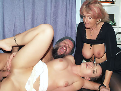 Hot Mature three some