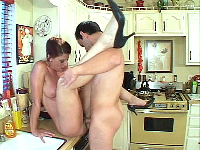 Kitchen Mature aroused